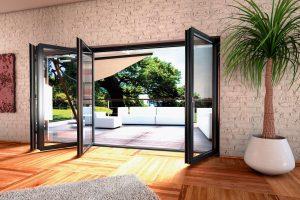 open up to aluminium doors
