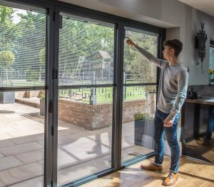 integral blinds for bifold door